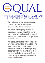 Equal parish flyer - we believe